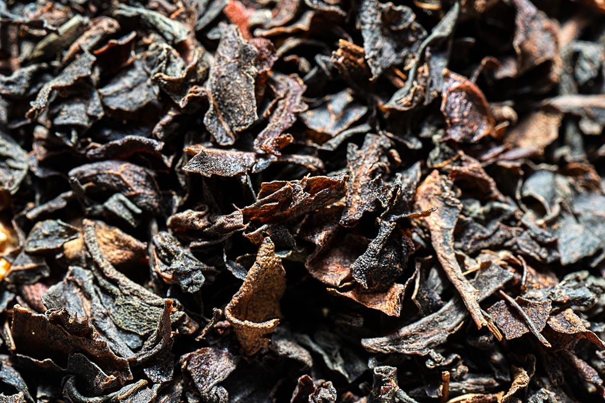 black tea close up