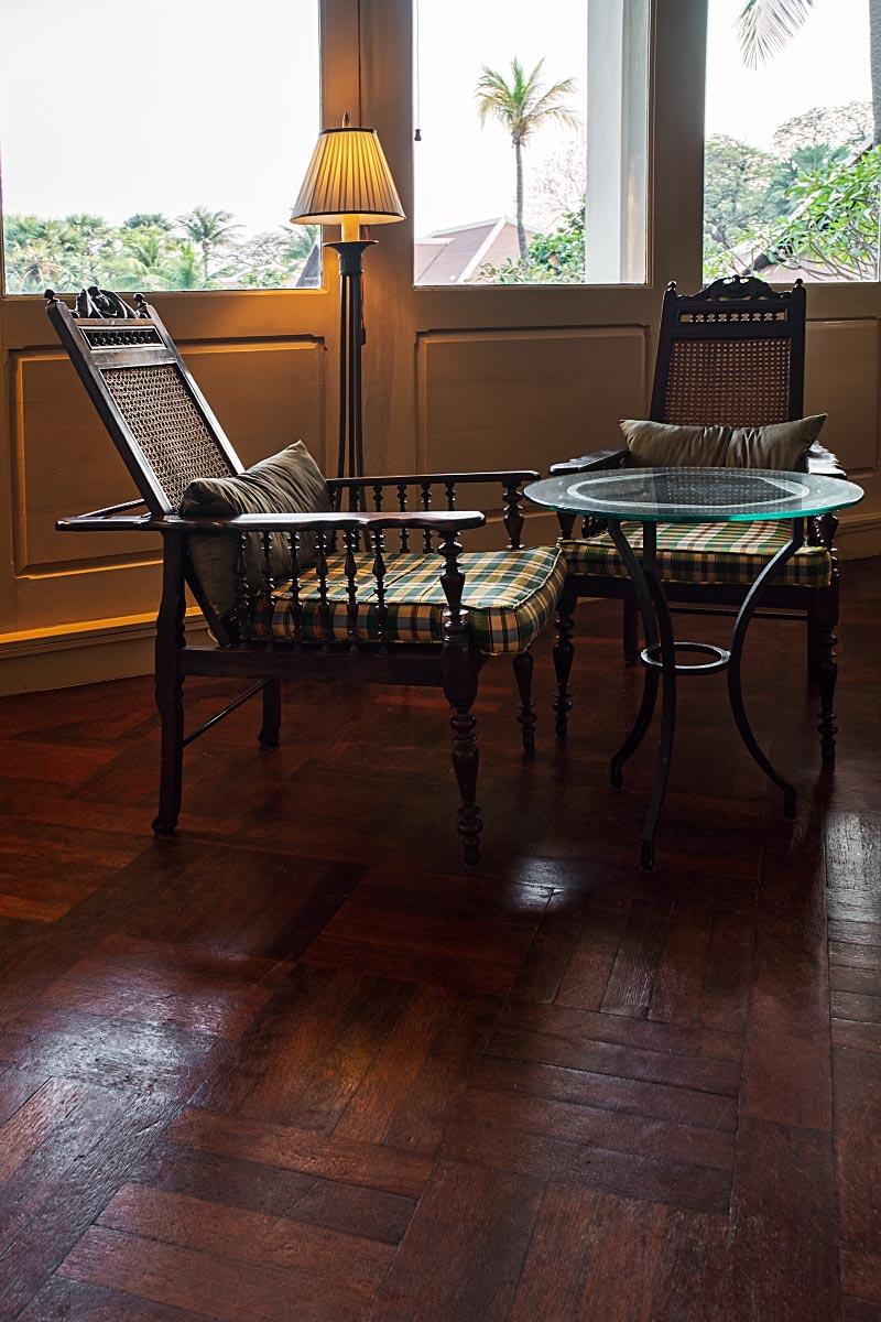 vintage cane plantation chair