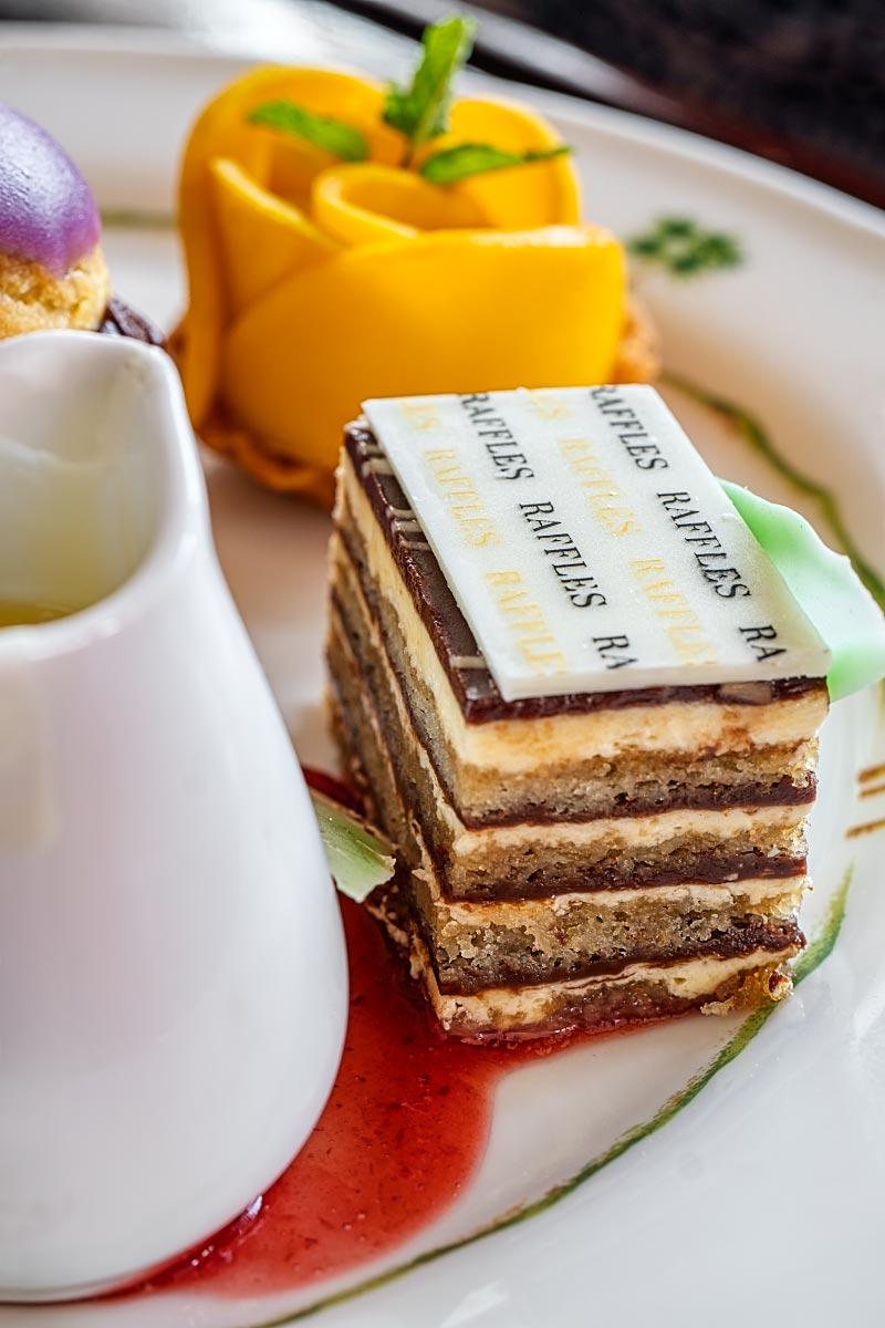 Raffles opera cake
