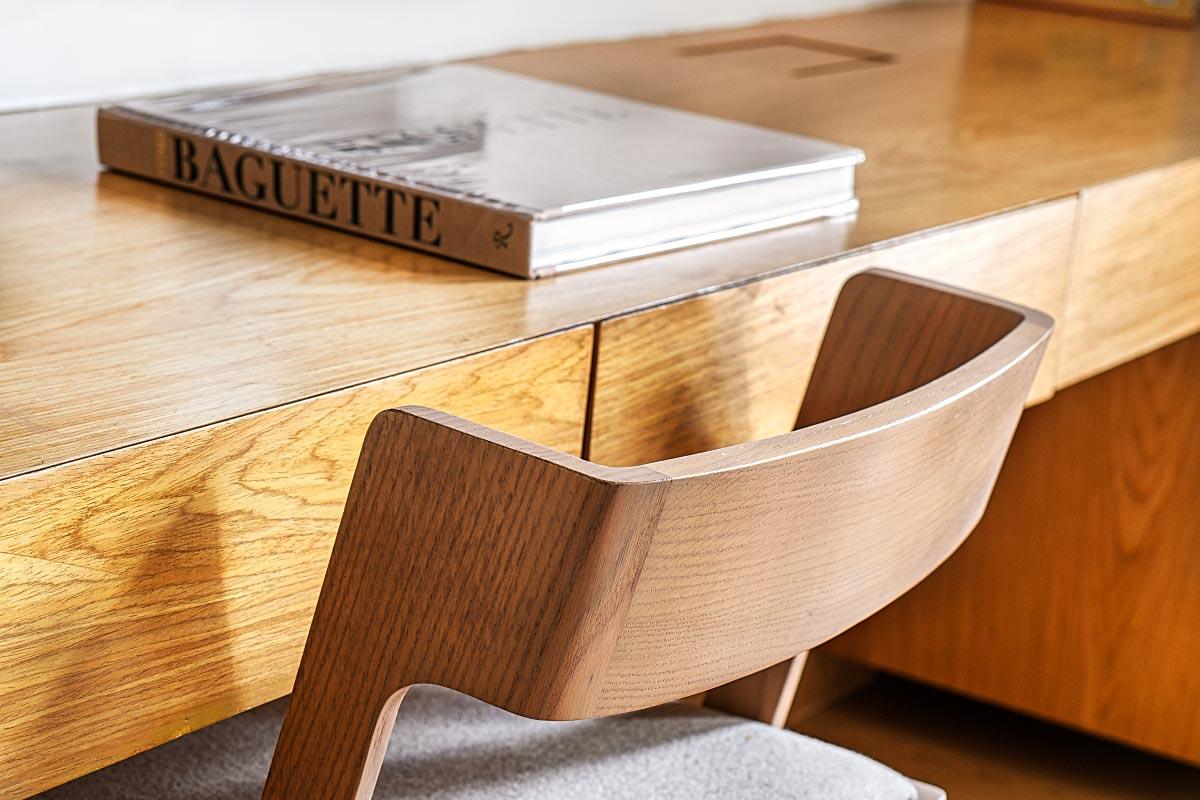 wooden modern stool
