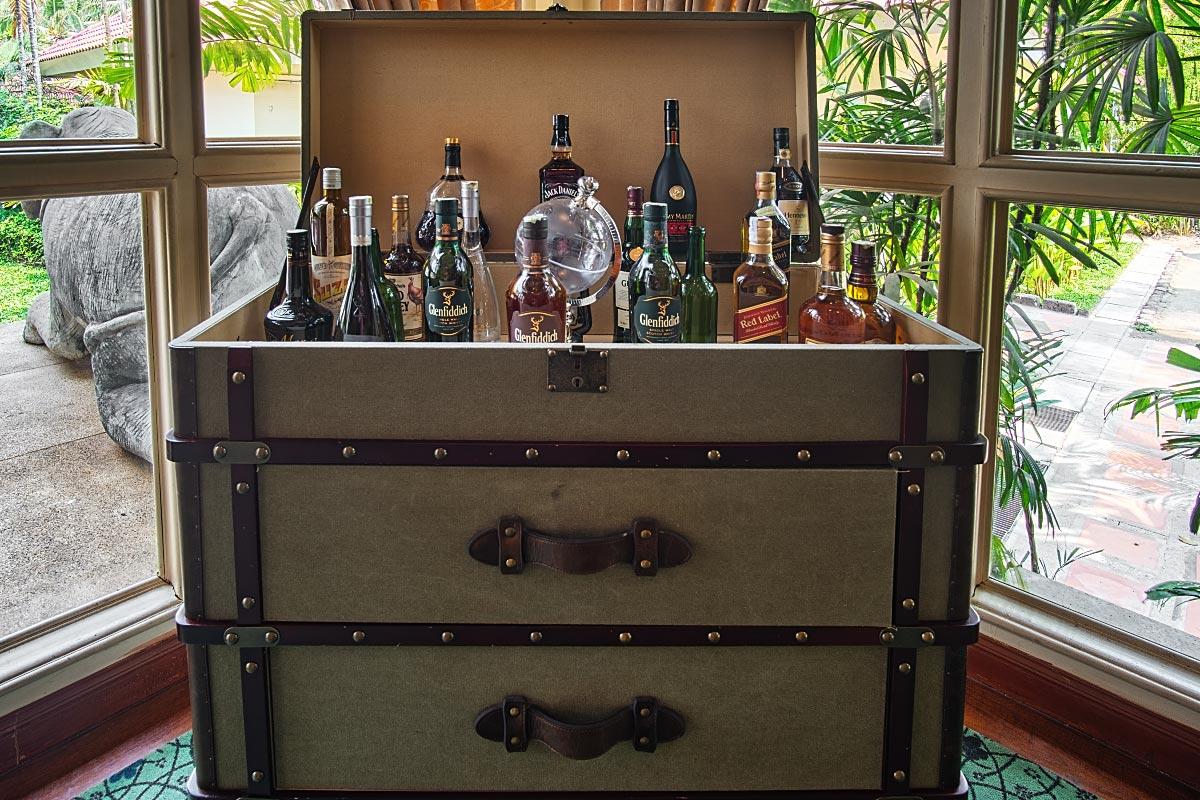liquor suitcase