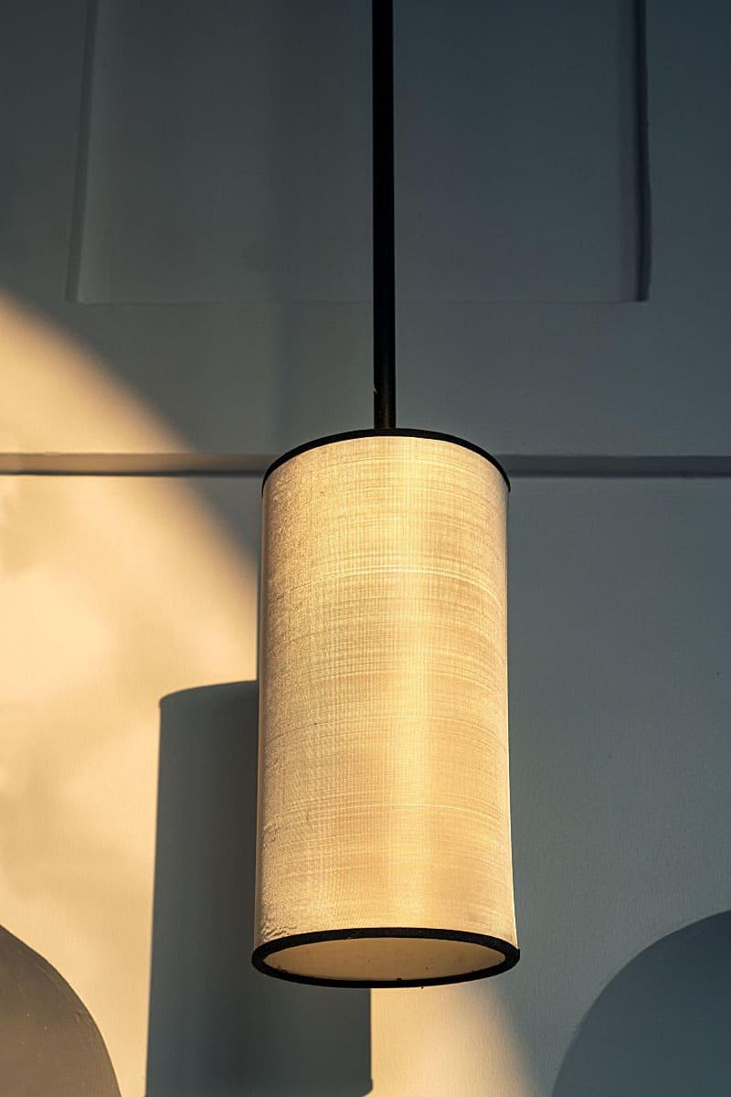 silk ceiling light